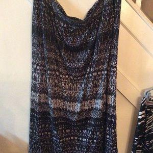 NWOTS Avenue Black & White Skirt 26/28 Light 3X 2X